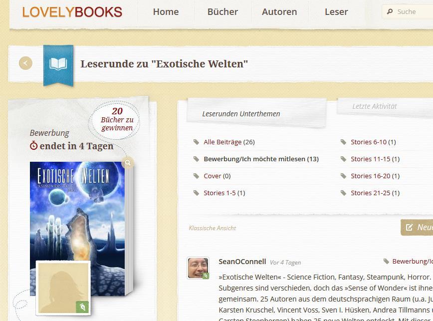 Leserunde zu »Exotische Welten« auf Lovely Books.